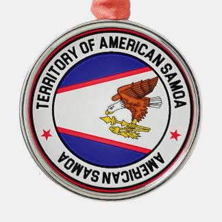 American Samoa Round Emblem Metal Ornament