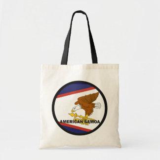 American Samoa Roundel quality Flag Canvas Bags