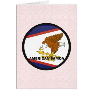 American Samoa Roundel quality Flag Greeting Cards