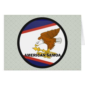 American Samoa Roundel quality Flag Greeting Card