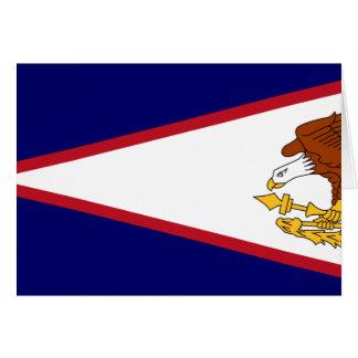 American Samoa, United States flag Greeting Cards