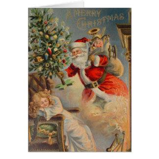 American Santa Christmas Dream Greeting Card