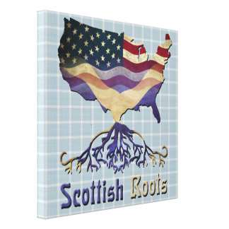 American Scottish Roots Canvas Print