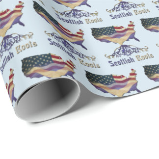 American Scottish Roots Gift Wrap