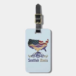 American Scottish Roots Luggage Tag Template