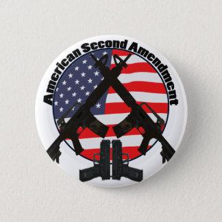 American Second Amendment 6 Cm Round Badge