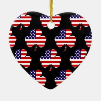 American Shamrock Christmas Tree Ornament