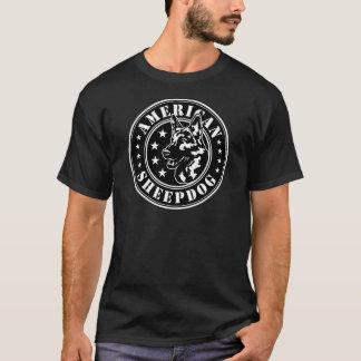 American Sheepdog Patch T-Shirt