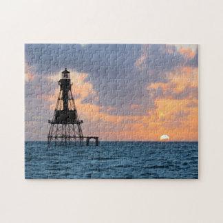 American Shoal Lighthouse, Florida Keys Jigsaw Puzzle