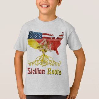 American Sicilian Roots Children's T-Shirt