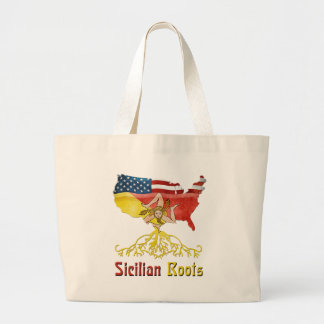 American Sicilian Roots Large Tote Bag