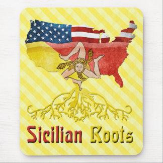 American Sicilian Roots Mousemat