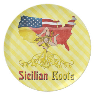American Sicilian Roots Plate