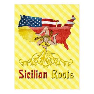 American Sicilian Roots Postcard