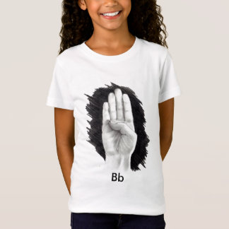 "AMERICAN SIGN LANGUAGE LETTER ""B"" T-Shirt"