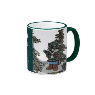 American Ski Resort Vail Colorado Ringer Mug