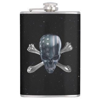 American Skull 8 oz Vinyl Wrapped Flask