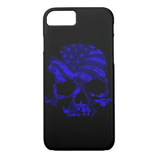 American Skull Blue iPhone 8/7 Case
