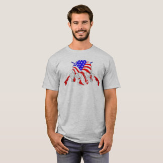 American Skull Cross Rifles T-Shirt
