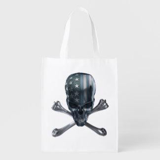 American Skull Reusable Grocery Bag