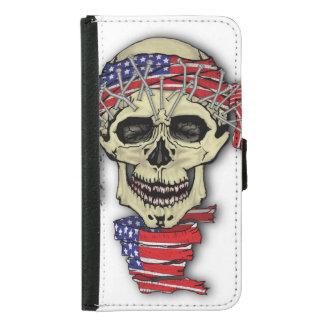 American Skull Samsung Galaxy S5 Wallet Case