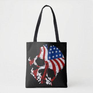 American Skulls Tote Bag