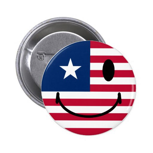 American Smiley Button