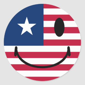 American Smiley Classic Round Sticker