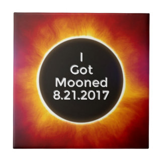 American Solar Eclipse Got Mooned August 21 2017.j Ceramic Tile