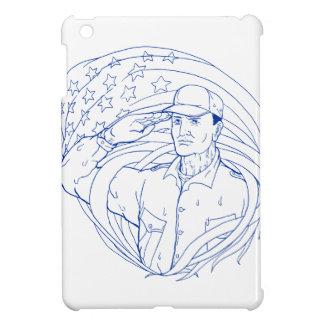 American Soldier Salute Flag Ukiyo-e Case For The iPad Mini