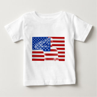 American Soldier Saluting Baby T-Shirt