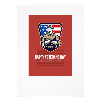 American Soldier Veterans Day Greeting Card Announcement
