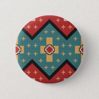 American Southwest Indian Pattern 6 Cm Round Badge