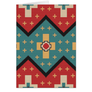 American Southwest Indian Pattern Card