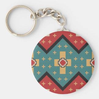 American Southwest Indian Pattern Key Ring