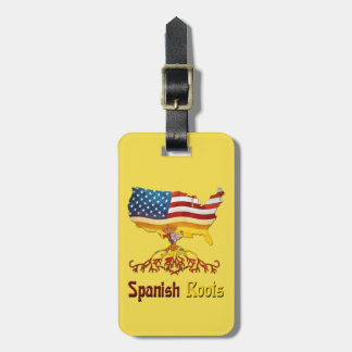 American Spanish Roots Luggage Tag Template