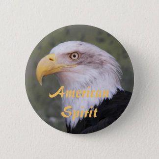 American Spirit Bald Eagle Photo 6 Cm Round Badge