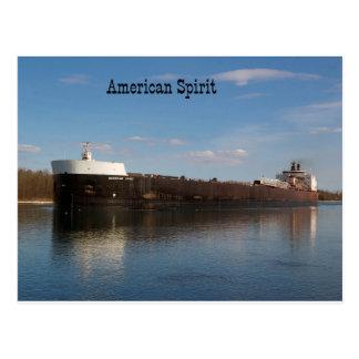 American Spirit post card