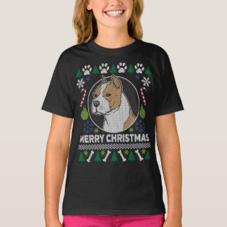 American Stafford Dog Breed Ugly Christmas Sweater