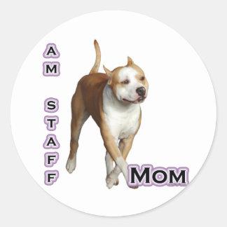 American Staffordshire Mom 4 - Sticker