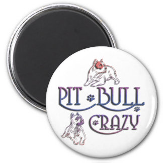 American Staffordshire PIT BULL TERRIER 6 Cm Round Magnet