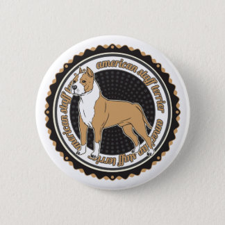 American Staffordshire Terrier 6 Cm Round Badge