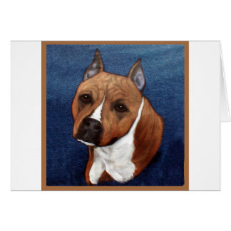 American Staffordshire Terrier Card