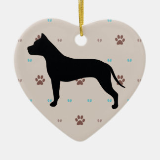 American Staffordshire Terrier Ceramic Ornament
