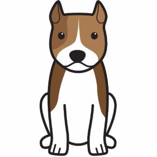 American Staffordshire Terrier Dog Cartoon Photo Sculpture