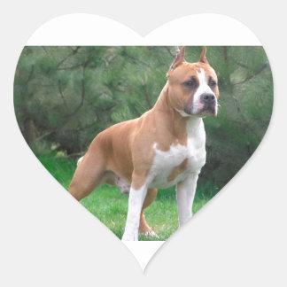 American Staffordshire Terrier Dog Heart Sticker