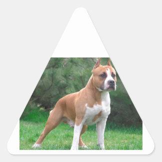 American Staffordshire Terrier Dog Triangle Sticker
