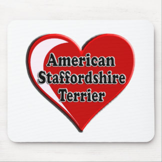 American Staffordshire Terrier Heart Mouse Pad