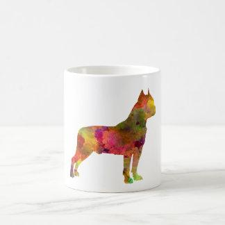 American Staffordshire Terrier in watercolor 2 Coffee Mug