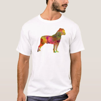 American Staffordshire Terrier in watercolor 2 T-Shirt